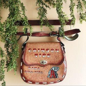 University of Alabama Roll Tide Vintage Saddle Bag